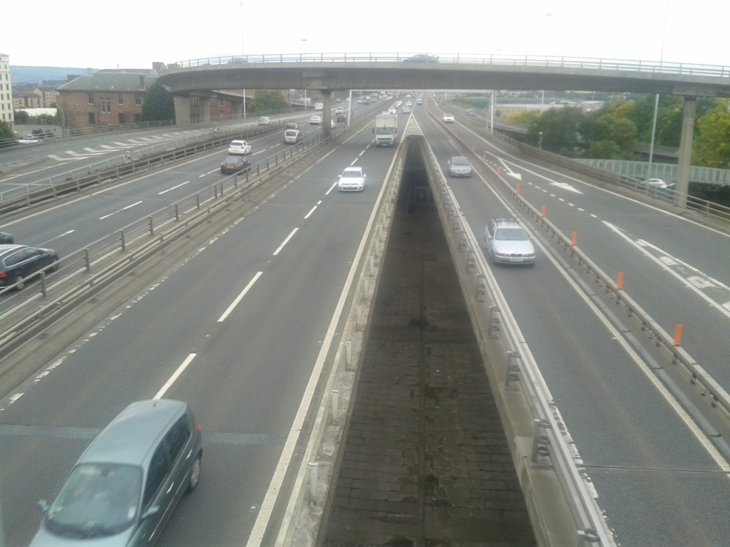 Looking down on the M8
