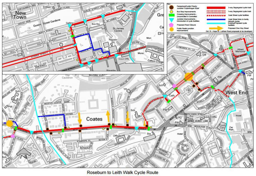Roseburn to leith walk cycle route