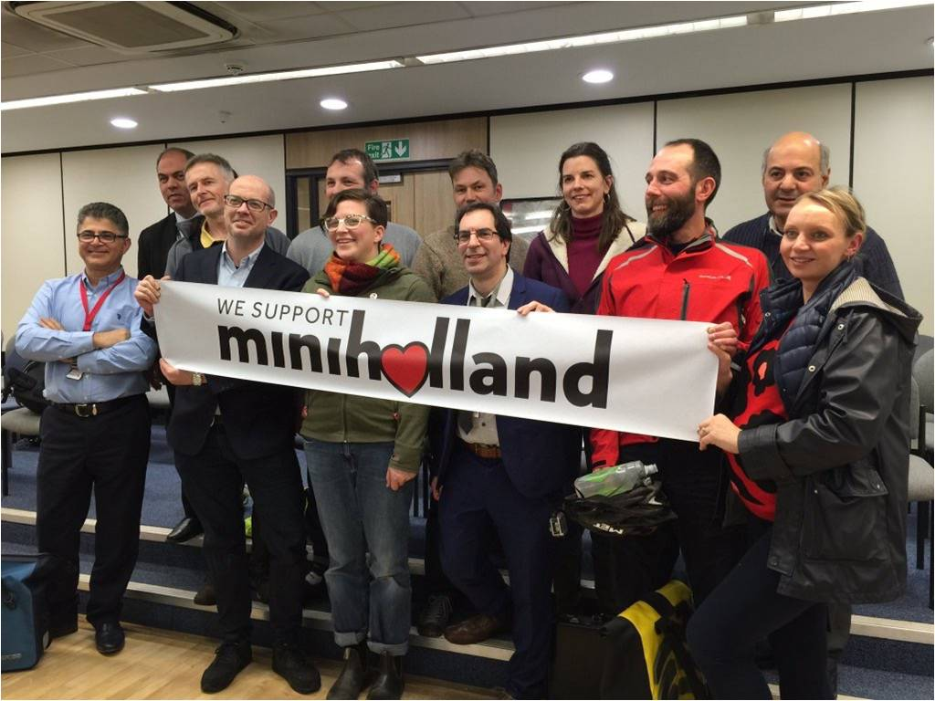 mini holland supporters at the council