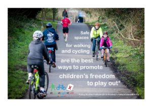 Safe spaces for walking and cycling are the best ways to promote children's freedom to play out