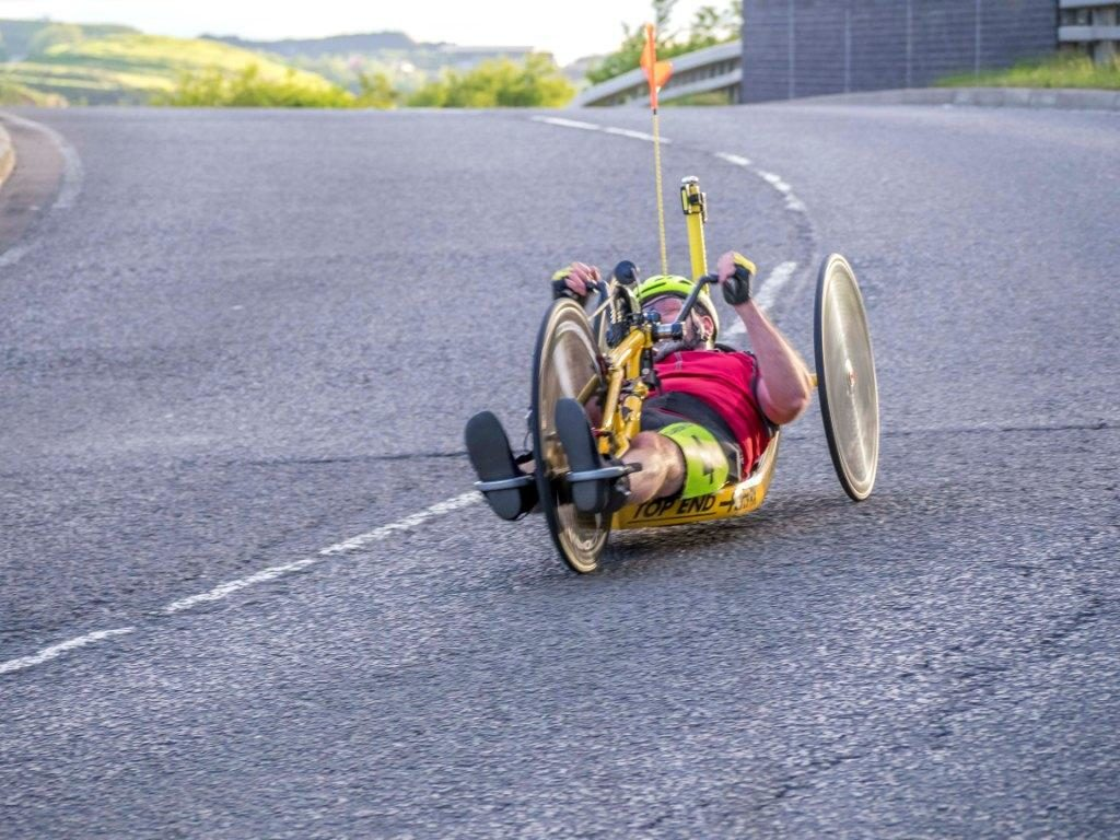 Ken on his handcycle