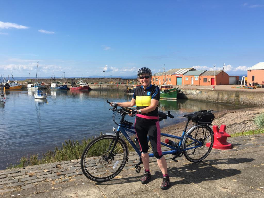 Shona and her tandem