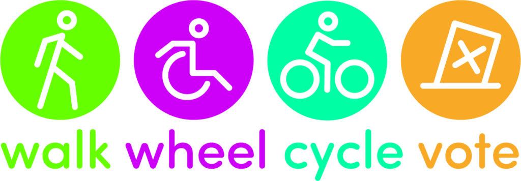 walk wheel cycle vote logo